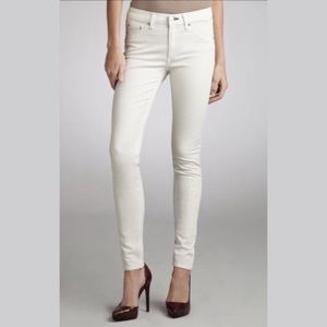 RAG & BONE The Legging Skinny Jeans Cream Size 24